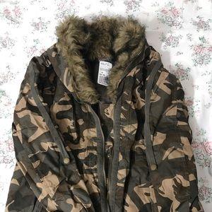 Forever 21 Oversize Camouflage Jacket